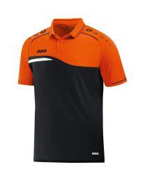 JAKO Polo Competition 2.0 zwart/fluo oranje