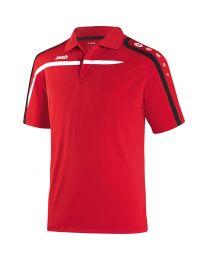 JAKO Polo Performance rood/wit/zwart