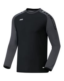 JAKO Sweater Champ zwart/antraciet