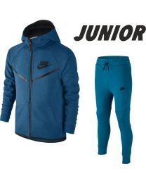 NIKE Tech Fleece Joggingsuit Junior Blauw