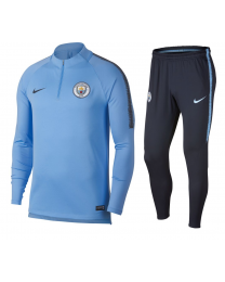 Nike MCFC M NK DRY SQD DRIL SUIT Licht Blauw