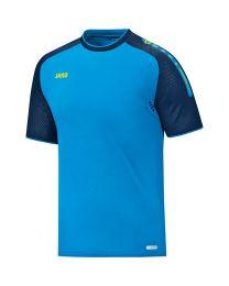 Jako Champ T-Shirt Blauw Marine Fluorgeel
