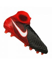 NIKE MAGISTA OBRA II FG BLACK WHITE UNIVERSITY RED