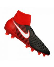 NIKE MAGISTA ONDA II DYNAMIC FIT FG BLACK WHITE UNIVERSITY RED
