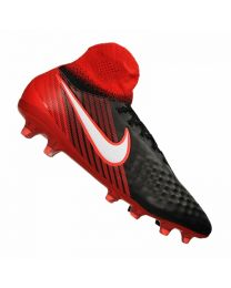 NIKE MAGISTA ORDEN II FG BLACK WHITE UNIVERSITY RED