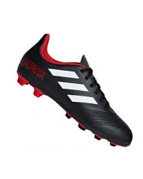 Adidas PREDATOR 18.4 FxG J CBLACK/FTWWHT/RED