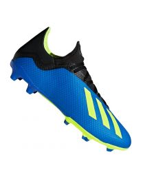 ADIDAS X 18.3 FG FOOTBALL BLUE SOLAR YELLOW