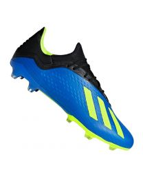 ADIDAS X 18.2 FG FOOTBALL BLUE SOLAR YELLOW